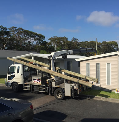 Electrical powerpole installation and replacement service